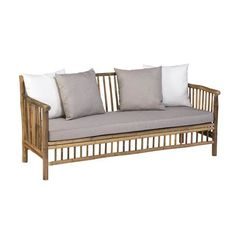 Exotan Bamboo is a sturdy and durable material. Each item is unique. The items include cushions. This series consists of a daybed, sofa without backrest, lounge sofa, lounge chair and a coffee table. 60s Furniture, Bamboo Furniture, Best Outdoor Furniture, Automotive Furniture, Furniture Outlet, Discount Furniture, Online Furniture, Outdoor Sofa, Outdoor Living