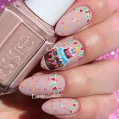 Birthday Party Nail Art amazing designs You Must Try - Fashonails birthday_nails