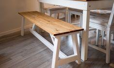 BENK: En hjemmelaget benk passer like godt inne som ute. FOTO: Simen Søvik Homemaking, Diy Furniture, Dining Bench, Diy And Crafts, Diy Projects, Home Decor, Gardening, Beige, Decoration Home