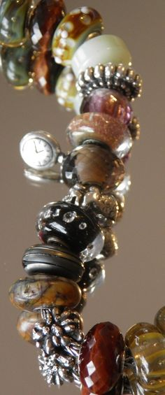 Switzerland pocket watch and Edelweiss on one of Heidi's favorite bracelet. Trollbeads - Swiss Flower and Gift Cottage