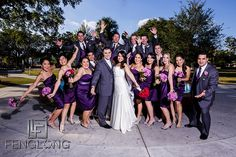 Wedding party in Winter Park, Florida