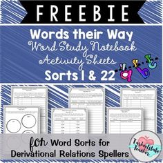 Words Their Way Derivational Relations Spellers Word Study