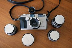 The Contax G2 with the Zeiss 21, 28, 35, 45, and 90.