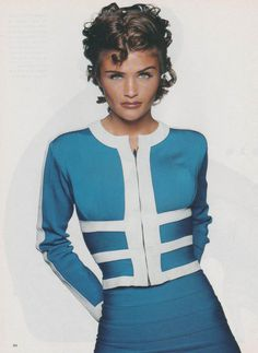 Helena Christensen | Photography by Patrik Andersson | For Glamour Magazine France | February 1992