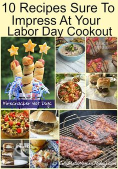 Hosting a cookout for Labor Day this year? Here are 10 Recipes Sure To Add to Your Labor Day Cookout Ideas! Add one or two to your menu. Supper Recipes, Entree Recipes, Grilling Recipes, Pork Recipes, Snack Recipes, Easy Recipes, Drink Recipes, Healthy Recipes, Nutritious Snacks