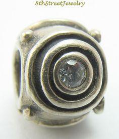 European Bead Charm Sterling Silver 925 Cubic Zirconia Circles Bead Charm #Unbranded #European