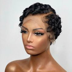 Best Human Hair Wigs, Human Hair Lace Wigs, Pretty Hairstyles, Braided Hairstyles, Black Hairstyles, Summer Hairstyles, Curly Hair Styles, Natural Hair Styles, Pixie Cut Wig