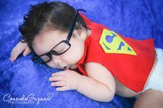 Superman theme newborn photoshoot