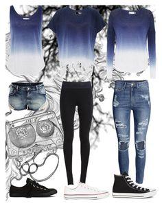 """:)"" by zaaki ❤ liked on Polyvore featuring moda, Velvet by Graham & Spencer, H&M, NIKE, VILA e Converse"