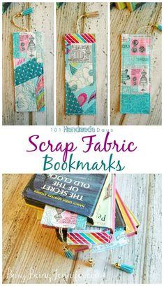 Scrap Fabric Bookmarks - BusyBeingJennifer.com