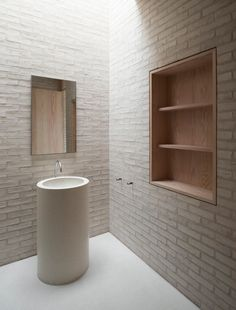 World-famous architect John Pawson was commissioned by Living Architecture to design Life House - a luxury modern-day retreat in Rural Wales. John Pawson, Bad Inspiration, Bathroom Inspiration, Minimalist Architecture, Interior Architecture, Architecture Life, Brick Interior, Ancient Architecture, Minimalist Interior