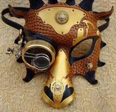 I REALLY love these leather masks with goggles as part of them.