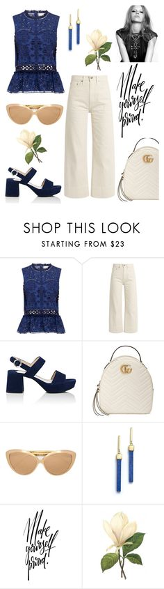 """Pride."" by schenonek ❤ liked on Polyvore featuring Sea, New York, Brock Collection, Prada, Gucci, Linda Farrow and Mateo"