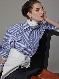 Photography: Nagi Sakai Styled by: Laura Seganti Hair: Tetsuya Yamakata at ArtlistNY Makeup: Charlotte Day atSee Management Manicurist: Michina Koide at Art Department Model: Ros Georgiou at Supreme Manamagement Paris