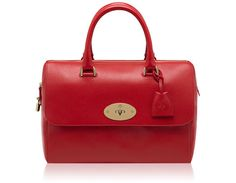 Mulberry - Del Rey  in Bright Red Shiny Goat