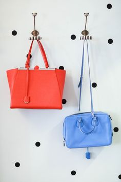 Add a pop of color with handbags!