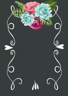for the border of a picture frame Wallpaper Backgrounds, Iphone Wallpaper, Wallpapers, Photo Backgrounds, Deco Floral, Design Poster, Binder Covers, Chalkboard Art, Chalkboard Template