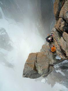 High up on the #Gervasutti Pilar #France (Photo: F McCann)
