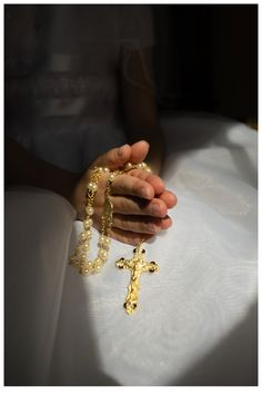 First communion photos and rosary