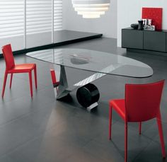 A glass table for the collaboration room would be perfect for throwing around ideas. And it'd be fun to write on!