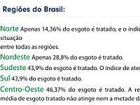 Os esgotos brasileiros