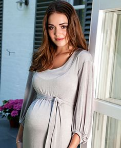 Mia Maternity Dress (Silver) - Maternity Wedding Dresses, Evening Wear and Party Clothes by Tiffany Rose