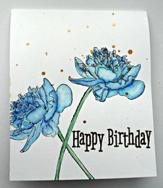 Cards and Chocolate: Blue Flowers