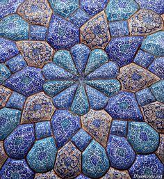 Traditional enamelwork - Yazd, Iran