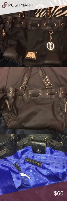 Juicy couture purse Juicy couture full size day dreamer purse . Material is black nylon . Used 3 xs . Perfect condition Juicy Couture Bags Shoulder Bags