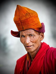 Monk from Padum Valley . Ladakh