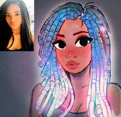 I like the glowing hair