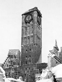 Danzig, Old Pictures, Old Photos, Historical Photos, Austria, Big Ben, Poland, Buildings, Germany
