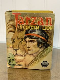 Excited to share this item from my #etsy shop: Tarzan And The Golden Lion The Better Little Book 1943 Hardcover Miniature Better Little Collectible Graphic Books