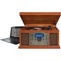 Crosley Troubadour AM/FM Radio and USB Turntable Vinyl Record Player — Paprika