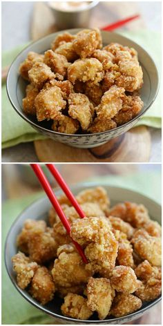 Chicken Karaage - crispy Japanese sesame fried chicken, the best chicken karaage recipe that is better than Japanese restaurants Easy Japanese Recipes, Japanese Dishes, Asian Recipes, Mexican Food Recipes, Japanese Food, Chicken Karaage Recipe, Fried Chicken Recipes, Crispy Chicken, Meatball Recipes