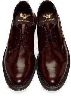 Burgundy shoes - Dr Martens Burgundy 1461 Classic 'Made in England' Derbys Gents Shoes, Dr Martens Men, Dr Martens Outfit, Gentleman Shoes, Burgundy Shoes, Mens Designer Shoes, Best Shoes For Men, Mens Boots Fashion, Derby Shoes