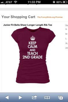 I love this 2nd grade shirt!!