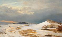 Viborg Skovgaardmuseet. J.Th.Lundbye: Vinterlandskab i nordsjællandsk karakter 1841. 180314