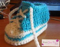 Knot Your Nana's Crochet: Crochet Converse/High Tops (6-12 months)