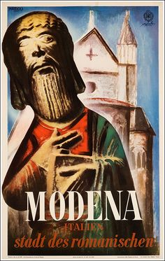Vintage Italian Posters, Vintage Travel Posters, Italy Tourism, Italy Travel, Places In Italy, Places To Travel, Illustration Art, Gallery, Modena Italy