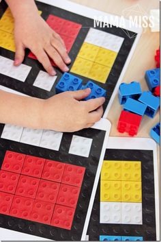 Introduce fine art to your kids in a fun way - with these inventive Piet Mondrian LEGO art printable cards. Teach through play - the best way to learn! Piet Mondrian, Mondrian Kunst, Lego Activities, Lego Games, Ecole Art, Fantasy Kunst, Lego Duplo, Preschool Art, Printable Cards