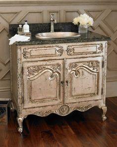 Antiqued vanity