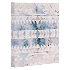 "Bungalow Rose Arctic Gold Tribal Graphic Art on Gallery Wrapped Canvas Size: 20"" H x 16"" W x 1.5"" D"