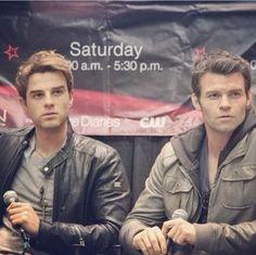 The Original bros, Kol & Elijah! Damnn, Nathaniel & Daniel looks like brothers in real life!