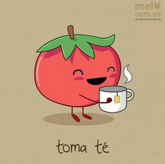 """#Juego de palabras, #Spanish puns, #Multicultural Spanish, Toma t :) Play on the words """"drink tea"""""""