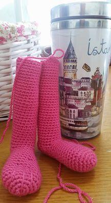 Amigurumi Örgü Pembe Panter ve Yapımı - Yapılışı (knitting pink ...   395x217