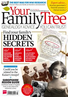 Find your family's hidden secrets with Your Family Tree magazine issue 142! Plus, find your family potters and much more! #genealogy #familyhistory #ipad #googleplay #nook #print #magazine