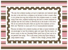 "Allison writes, ""Here is a quote on Revelation taken from Dallin H. Oaks, January, 1995 Ensign Article entitled ""Scripture Reading and Revel..."