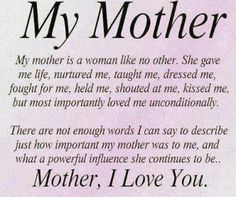 Every day I appreciate what an amazingly strong, smart and loving mom she was. Not a day goes by that I don't miss my mom. I know we have a special guardian angel watching over us. Love you mom Thank You Mom Quotes, Happy Mother Day Quotes, Funny Mom Quotes, Mother Quotes, Dad Quotes, Mother Poems, Mommy Quotes, Happy Mothers Day Images, Grace Quotes