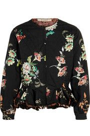 EtroReversible embellished floral-print cotton jacket